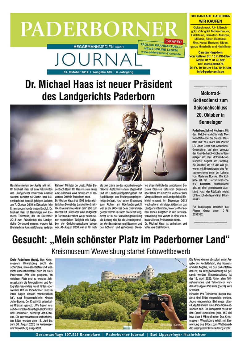 Paderborner Journal 183 vom 09.10.2019