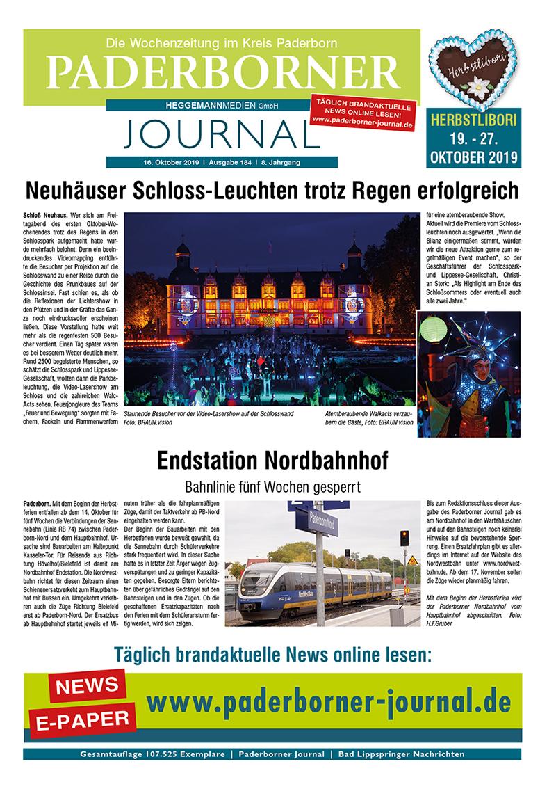 Paderborner Journal 184 vom 16.10.2019