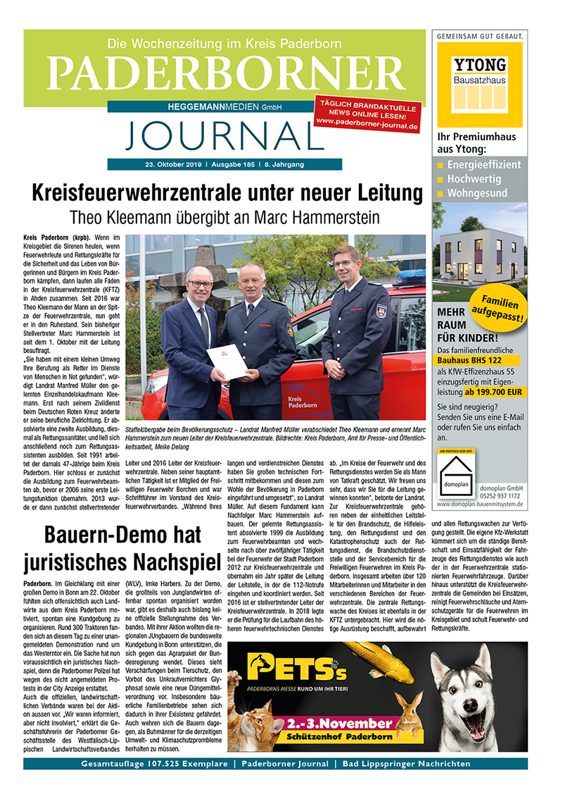 Paderborner Journal 185 vom 23.10.2019