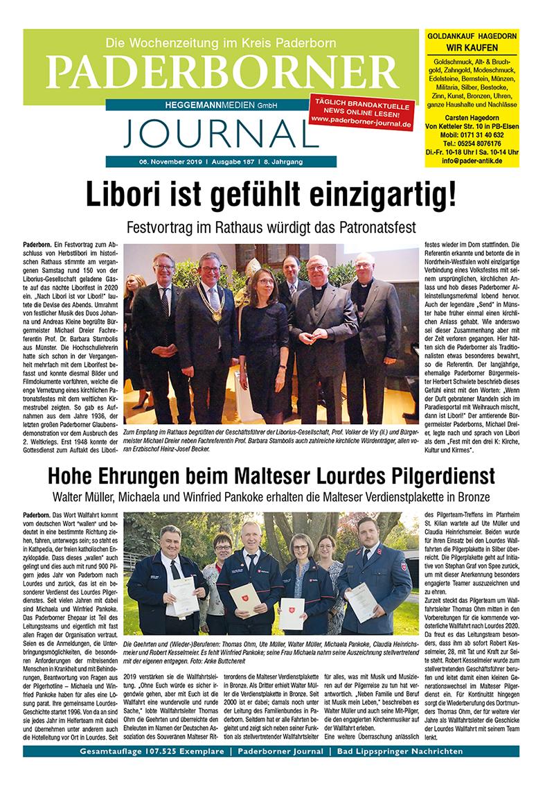 Paderborner Journal 187 vom 06.11.2019