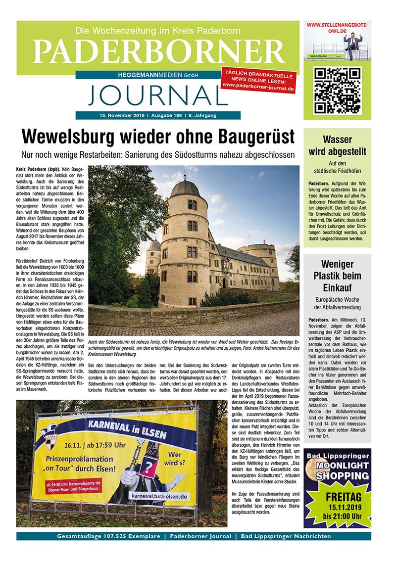 Paderborner Journal 188 vom 13.11.2019