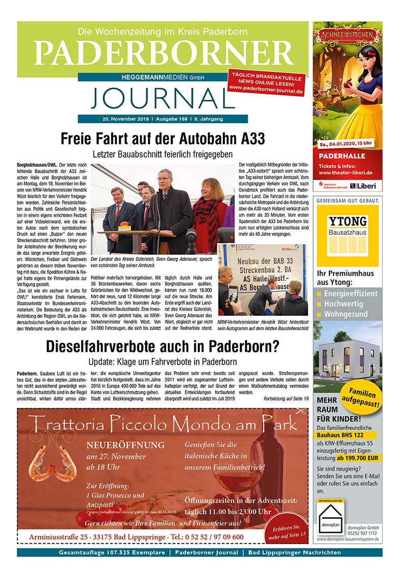 Paderborner Journal 189 vom 20.11.2019
