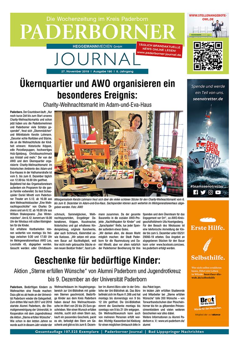 Paderborner Journal 190 vom 27.11.2019
