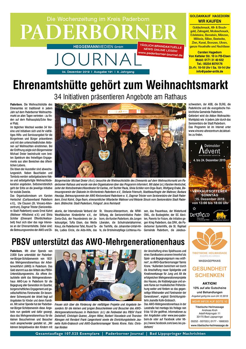 Paderborner Journal 191 vom 04.12.2019