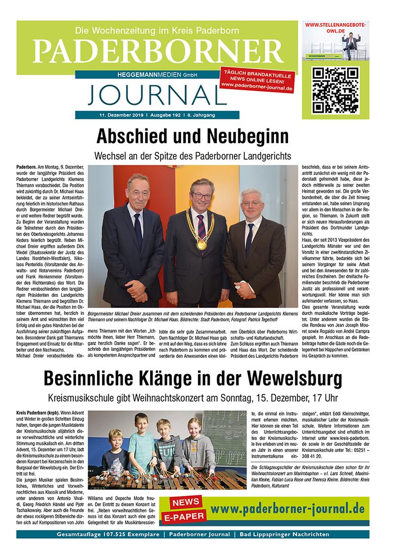 Paderborner Journal 192 vom 11.12.2019