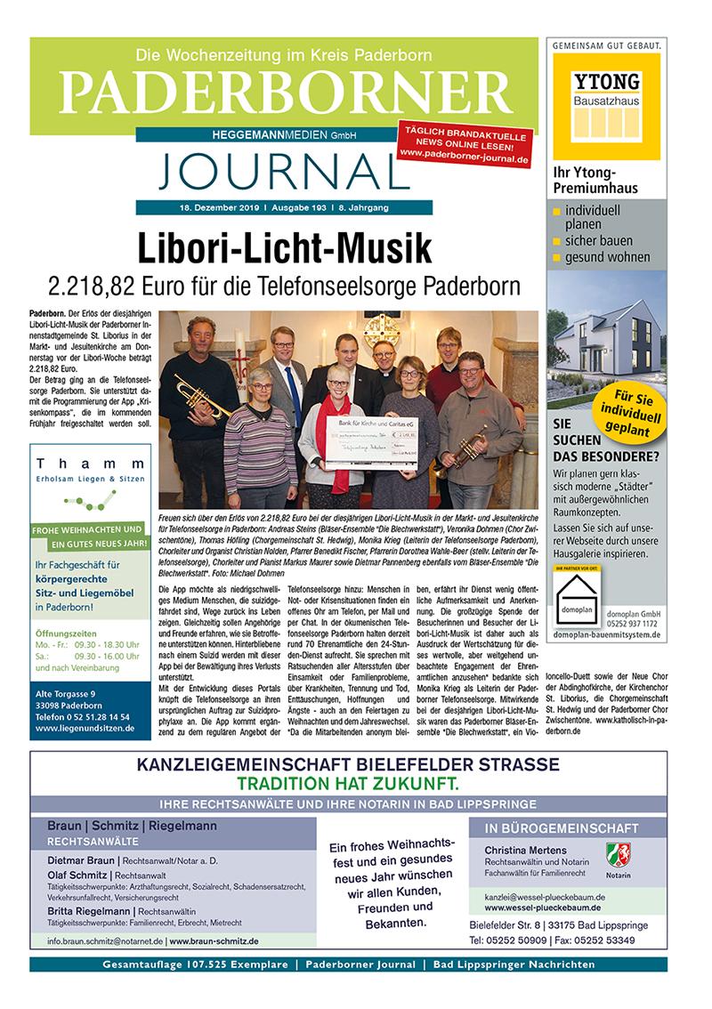 Paderborner Journal 193 vom 18.12.2019