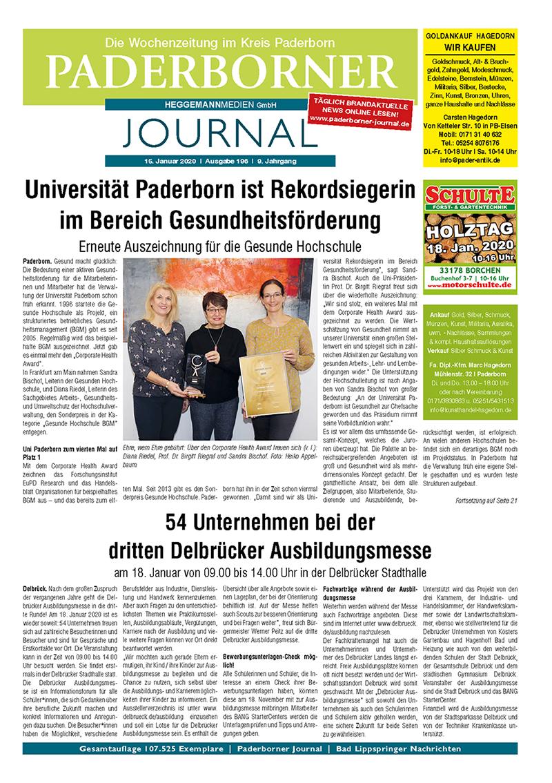 Paderborner Journal 196 vom 15.01.2020