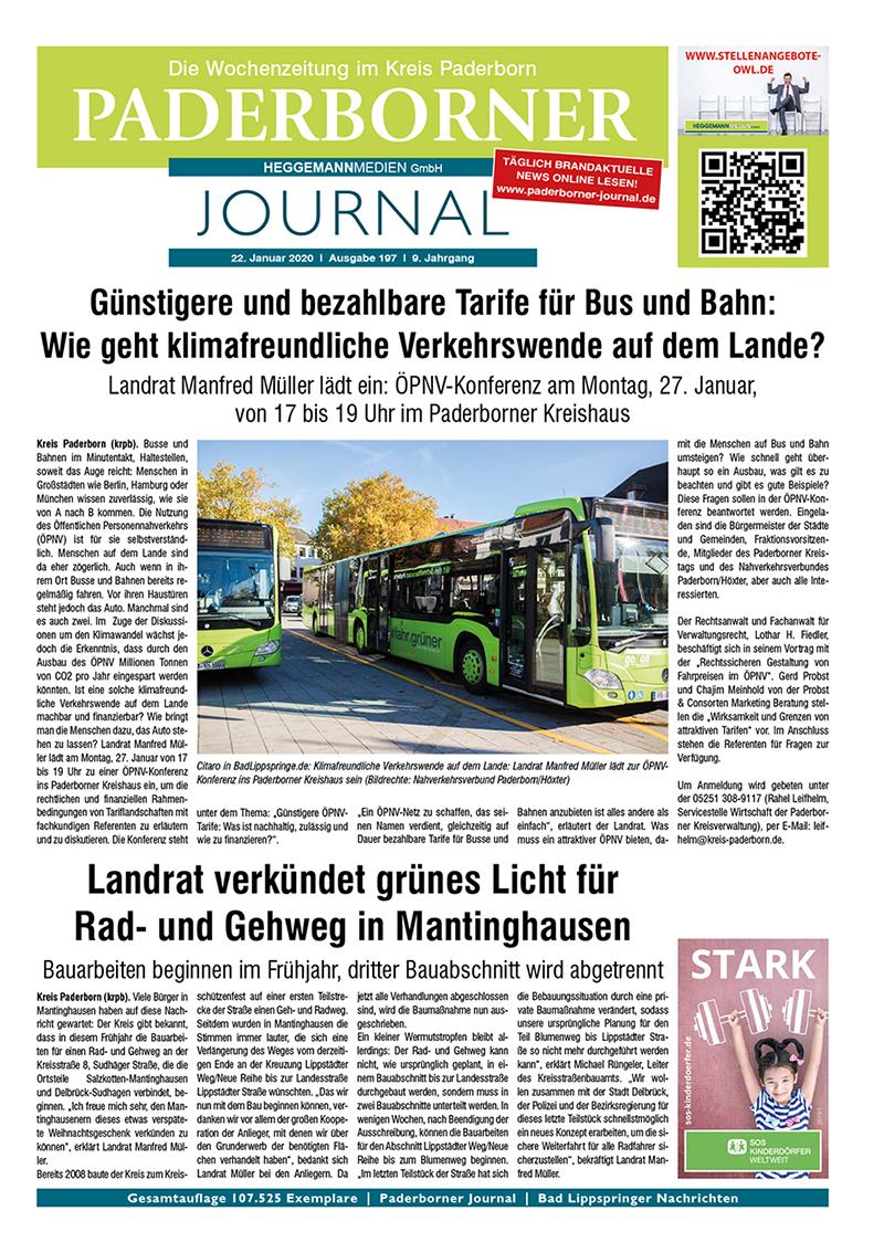 Paderborner Journal 197 vom 22.01.2020