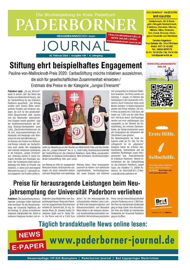 Paderborner Journal 199 vom 05.02.2020