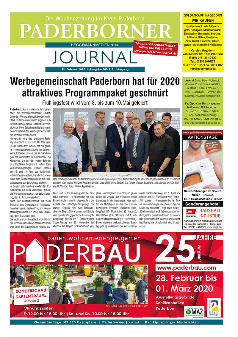 Paderborner Journal 200 vom 12.02.2020