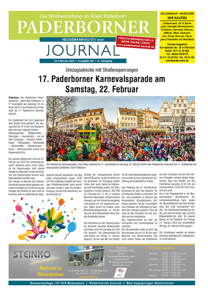 Paderborner Journal 201 vom 19.02.2020