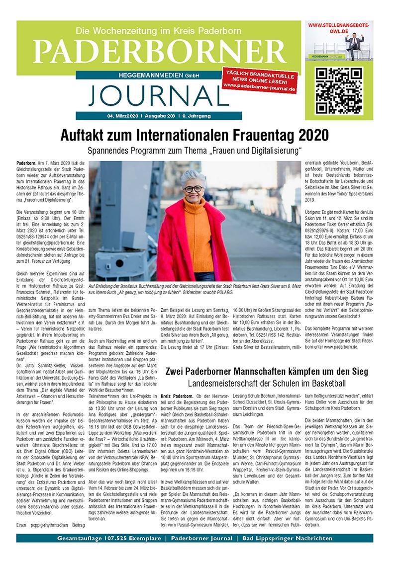 Paderborner Journal 203 vom 04.03.2020