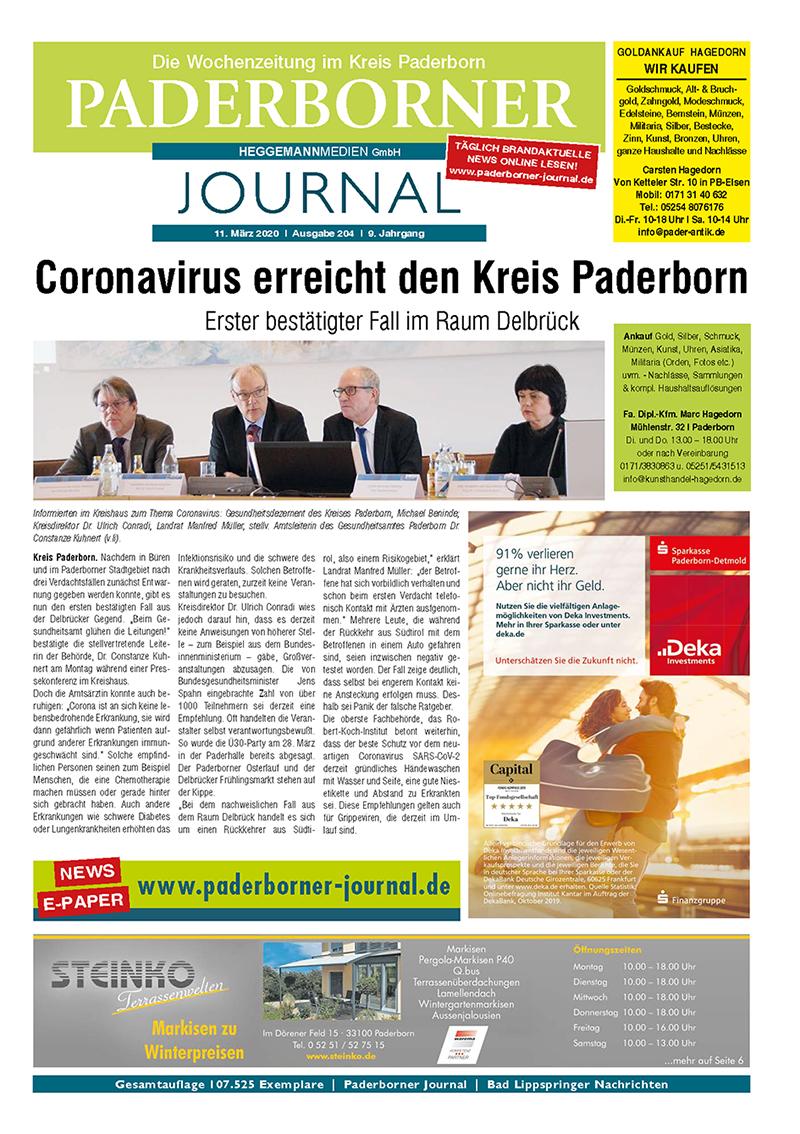 Paderborner Journal 204 vom 11.03.2020
