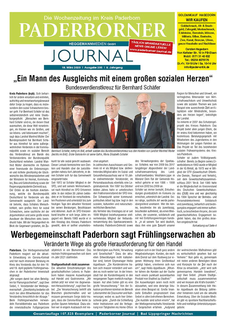 Paderborner Journal 205 vom 18.03.2020