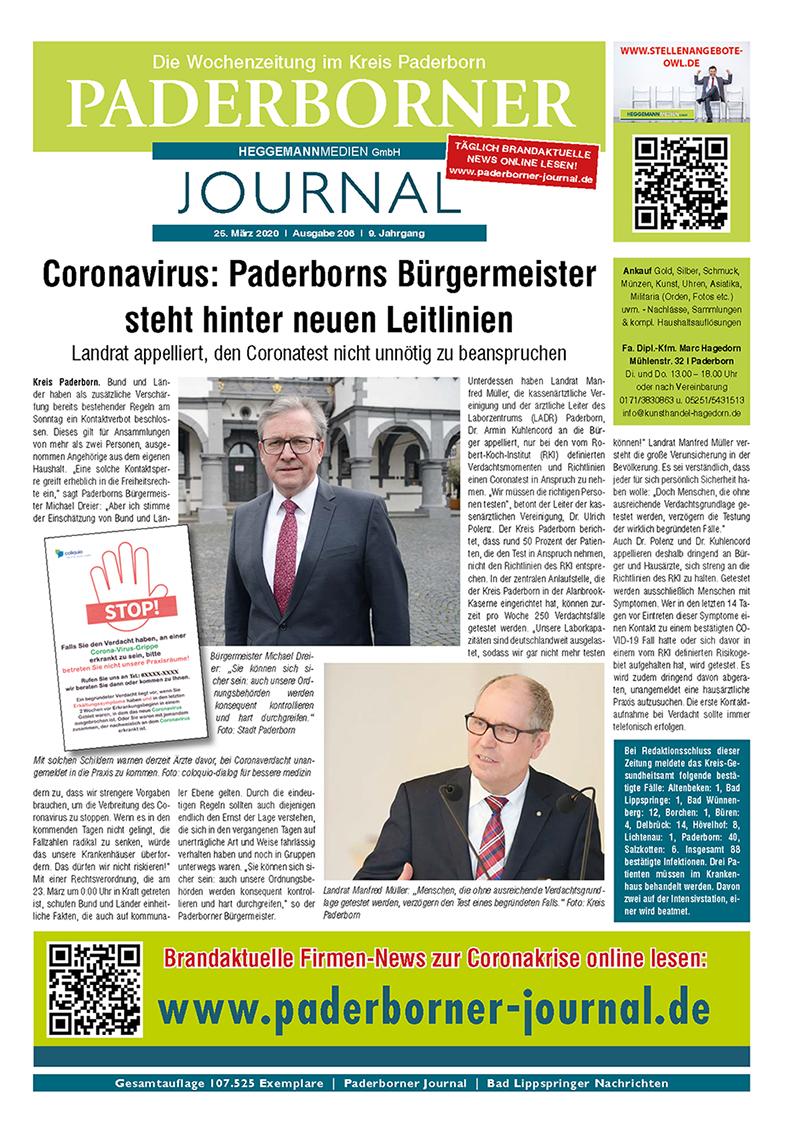 Paderborner Journal 206 vom 25.03.2020