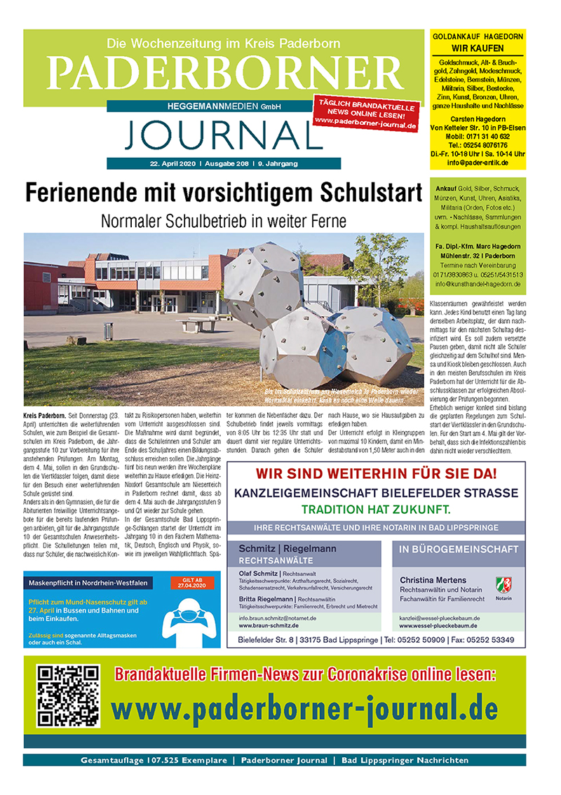 Paderborner Journal 208 vom 23.04.2020