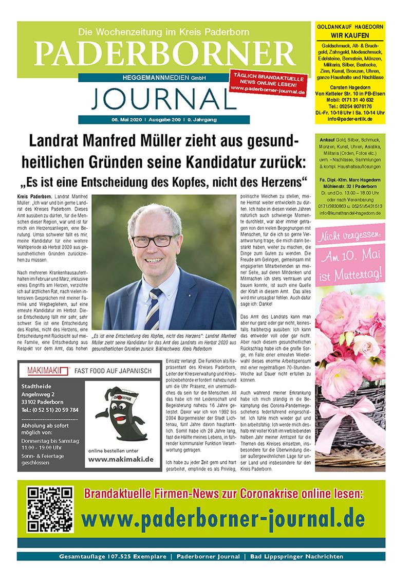 Paderborner Journal 209 vom 06.05.2020