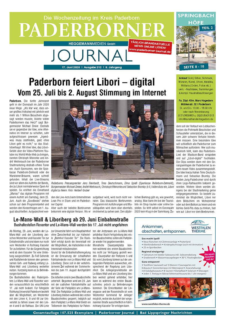 Paderborner Journal 212 vom 17.06.2020
