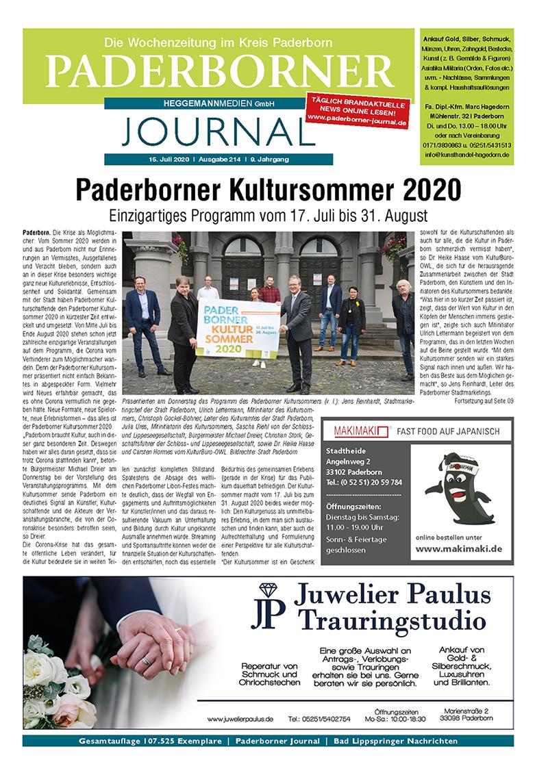Paderborner Journal 214 vom 15.07.2020