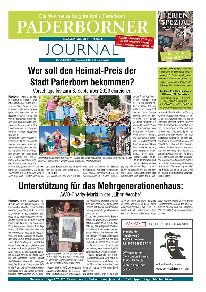 Paderborner Journal 215 vom 29.07.2020