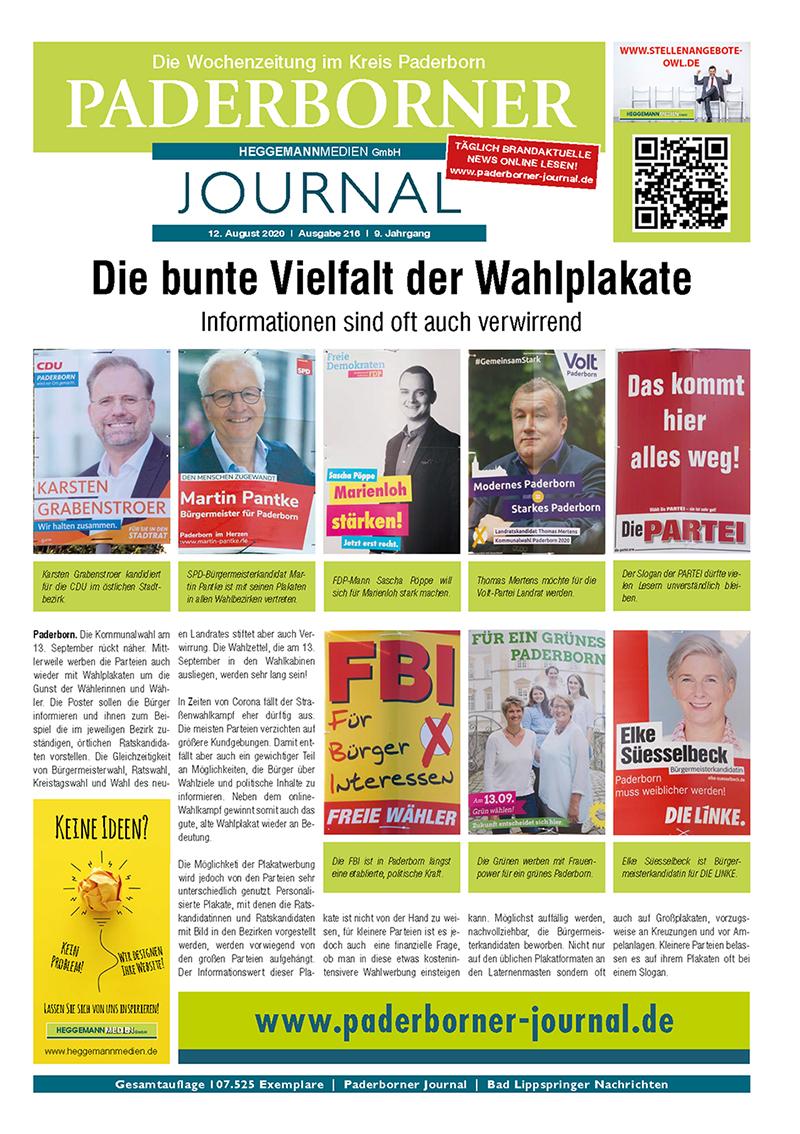 Paderborner Journal 216 vom 12.08.2020