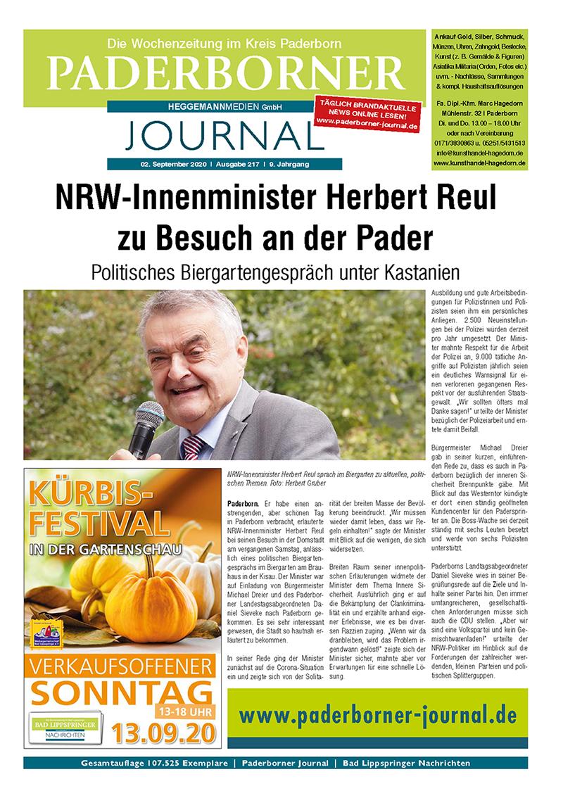 Paderborner Journal 217 vom 02.09.2020