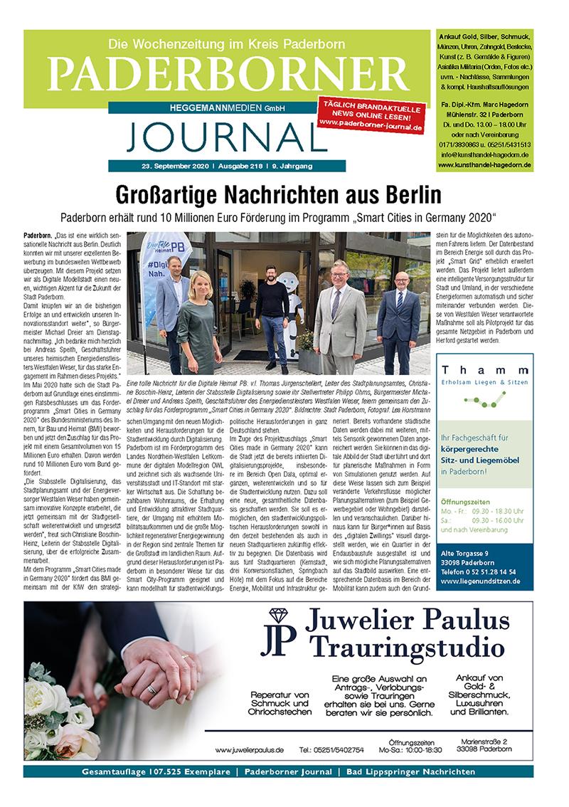 Paderborner Journal 218 vom 23.09.2020