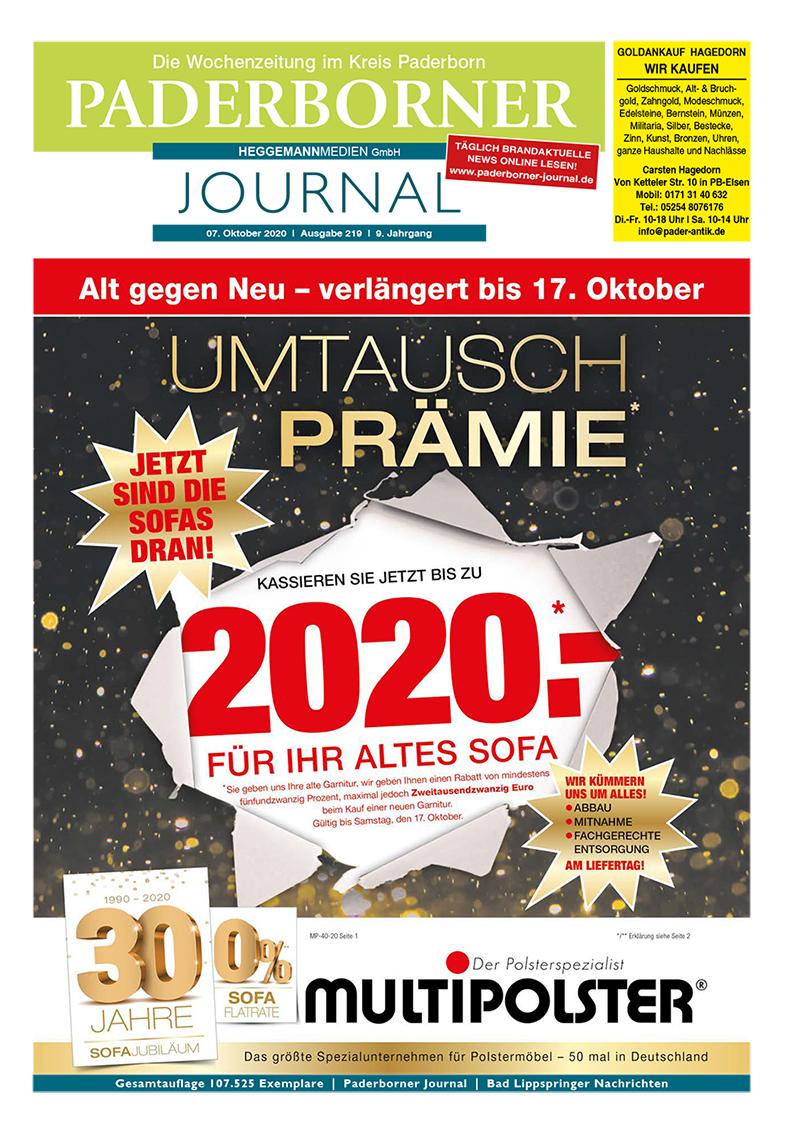 Paderborner Journal 219 vom 07.10.2020
