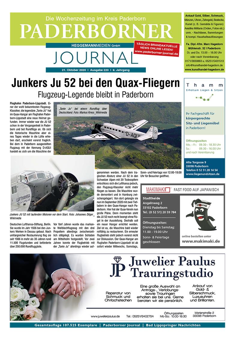 Paderborner Journal 220 vom 21.10.2020