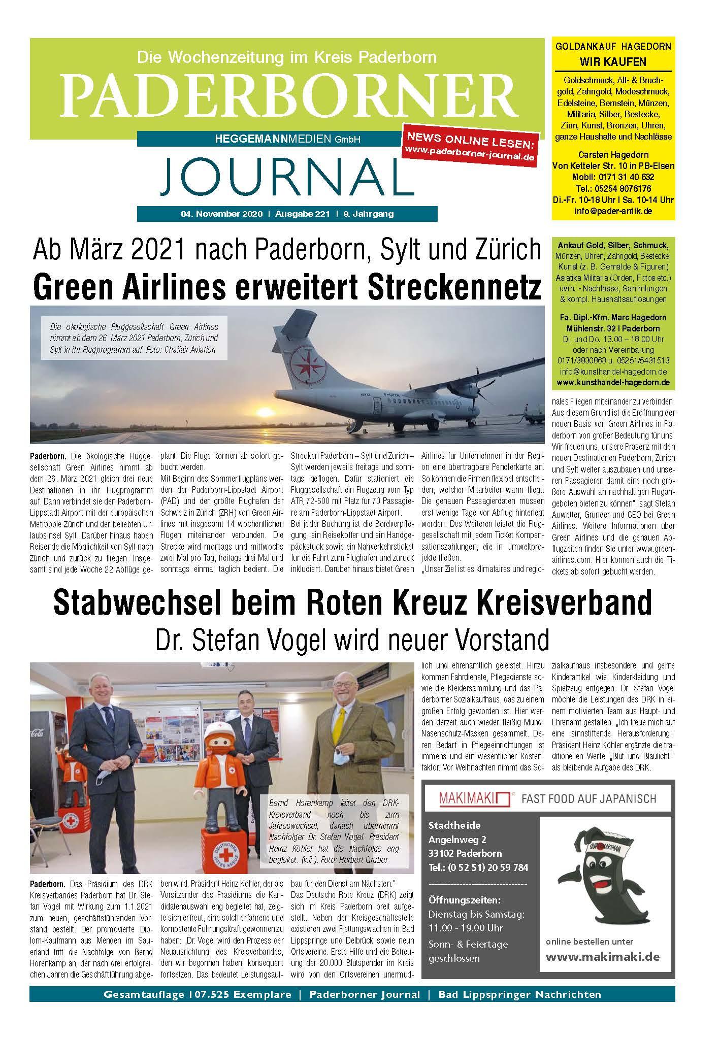 Paderborner Journal 221 vom 04.11.2020