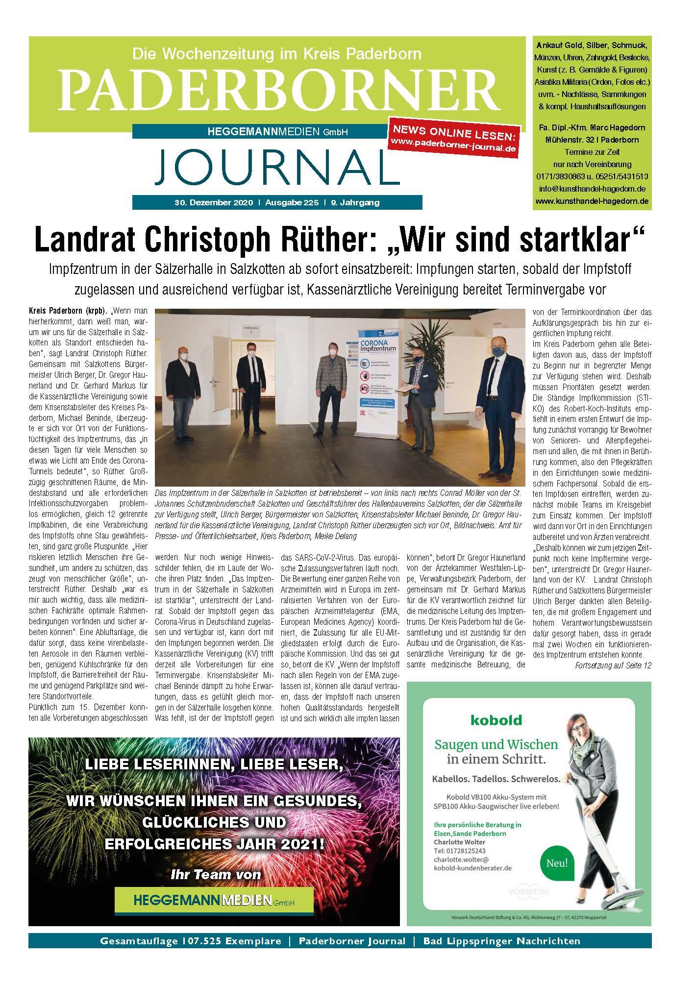 Paderborner Journal 224 vom 16.12.2020