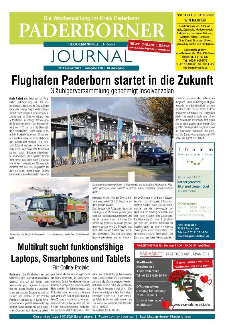 Paderborner Journal 226 vom 03.02.2021