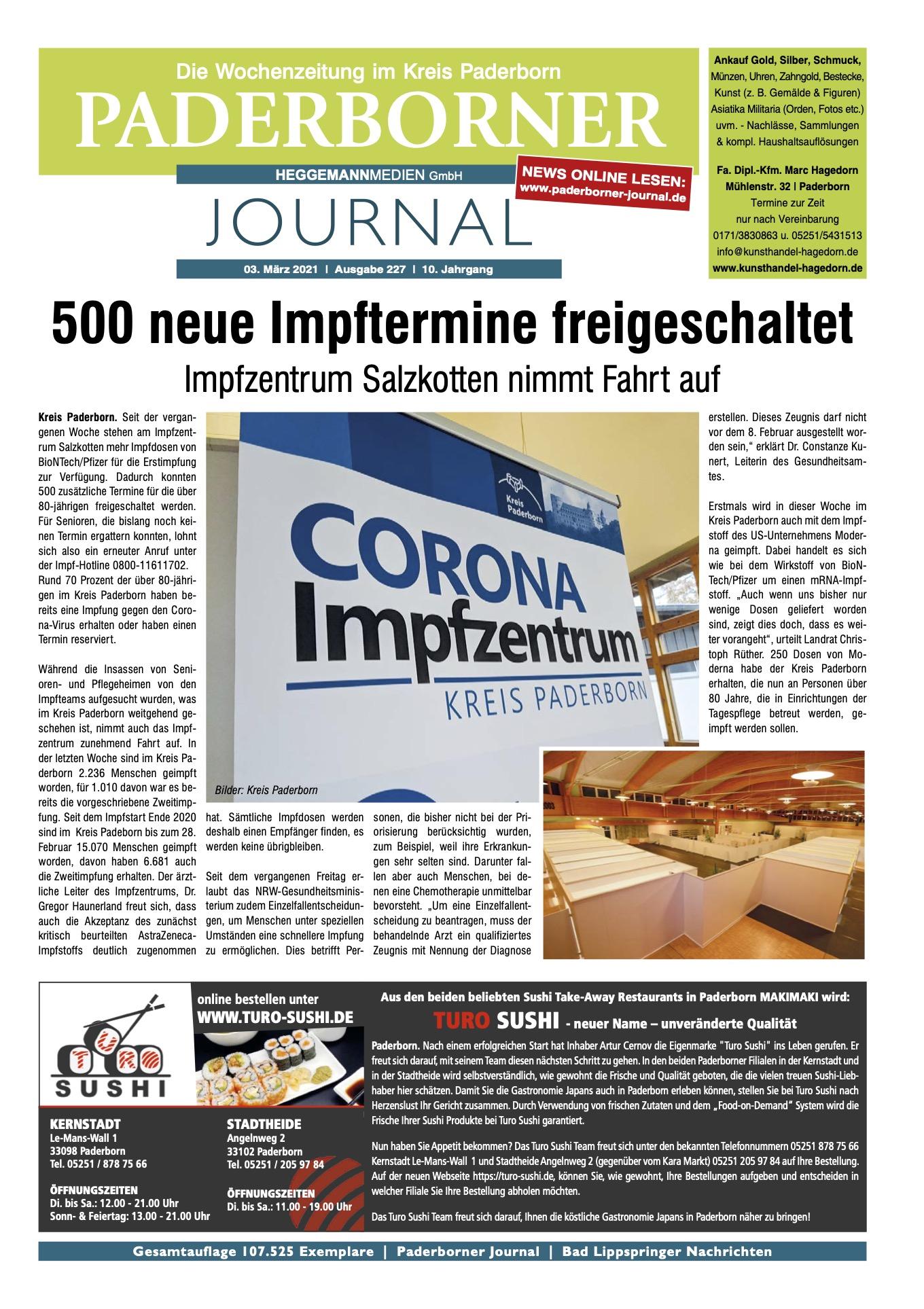 Paderborner Journal 227 vom 03.03.2021