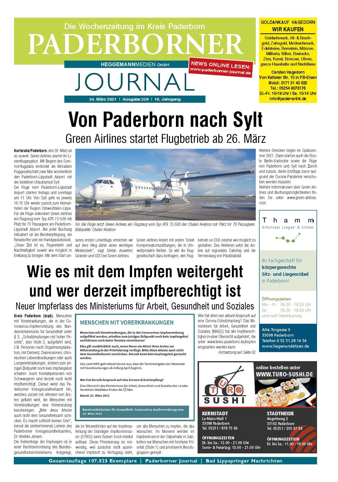 Paderborner Journal 228 vom 24.03.2021